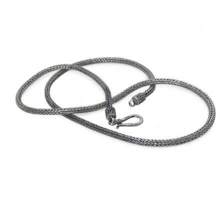 Ladies Silver Necklace - 3mm Snake Link Chain